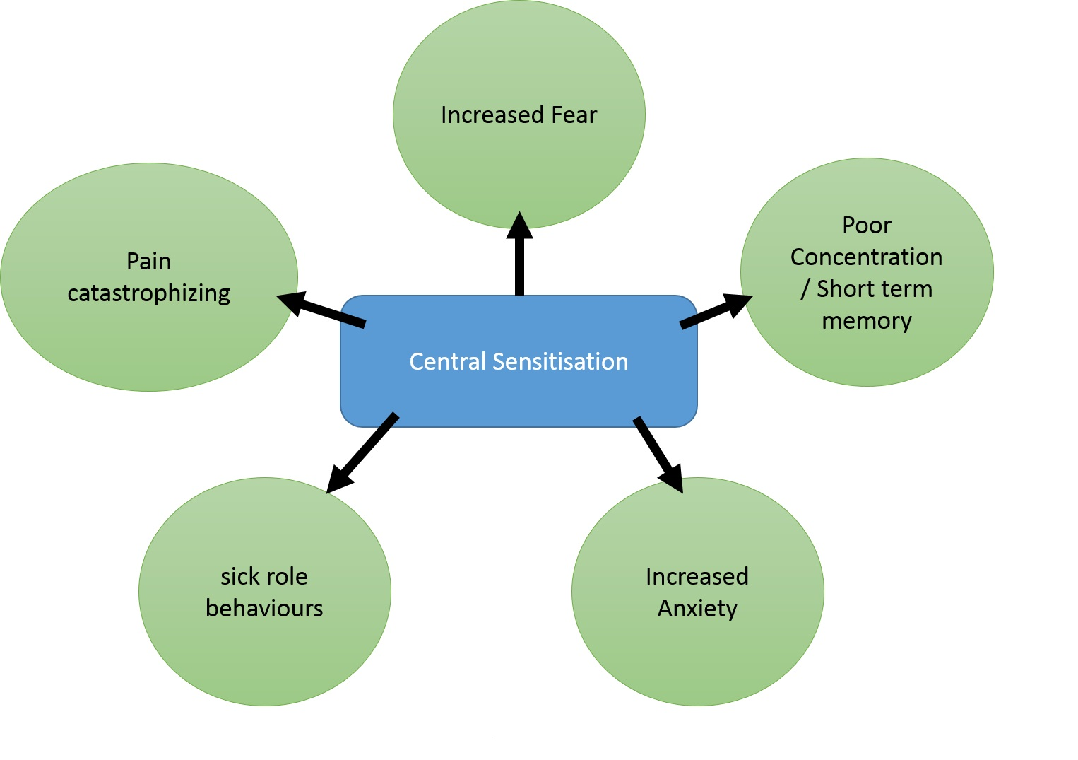 Figure 4:Systemic effects of central sensitisation (McAllister, 2012)