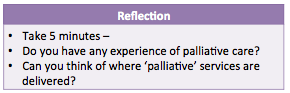 Experience and service delivery of palliative care reflection.png