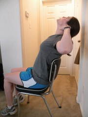 Trunk mobility in sitting - extension