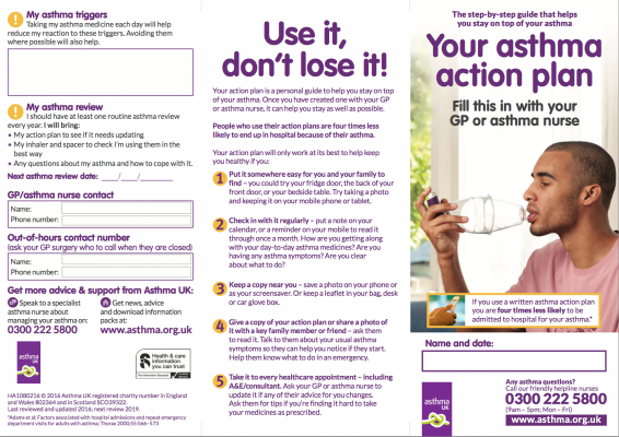 Awesome Asthma Brochure Template Awareness For Adults And Children