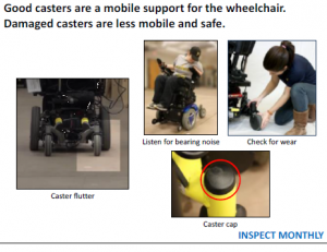 Power wheelchair casters check.png