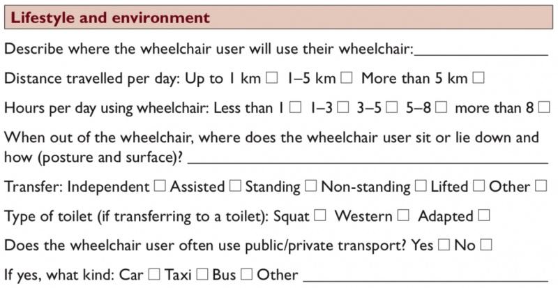 Editing Wheelchair Assessment - Assessment Interview