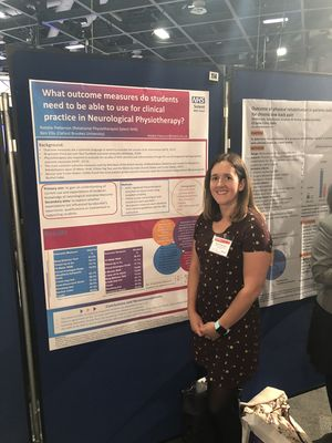 Natalie alongside my poster at PhysioUK 19